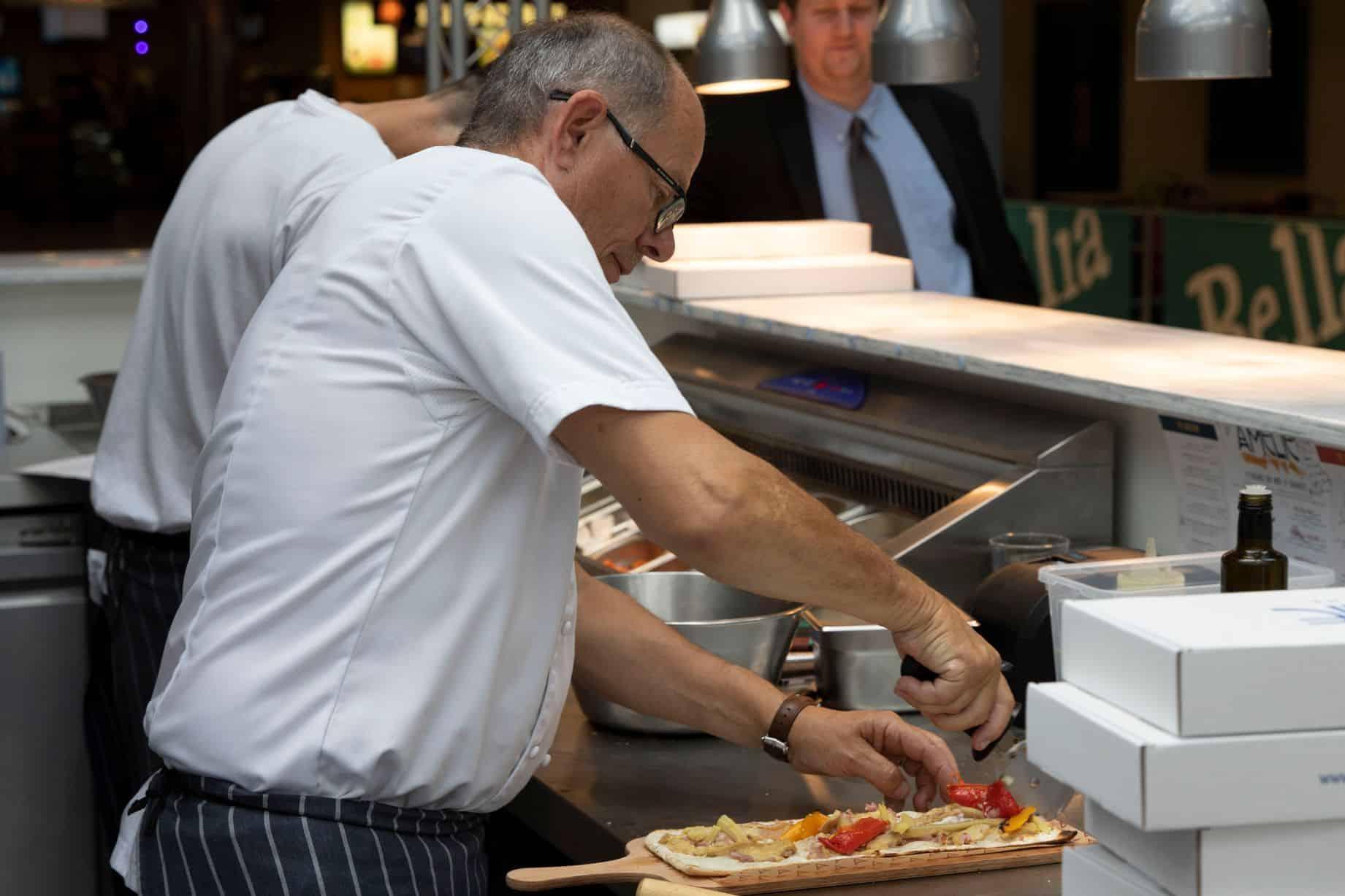 Pizza Preparation at Amelie Cambridge