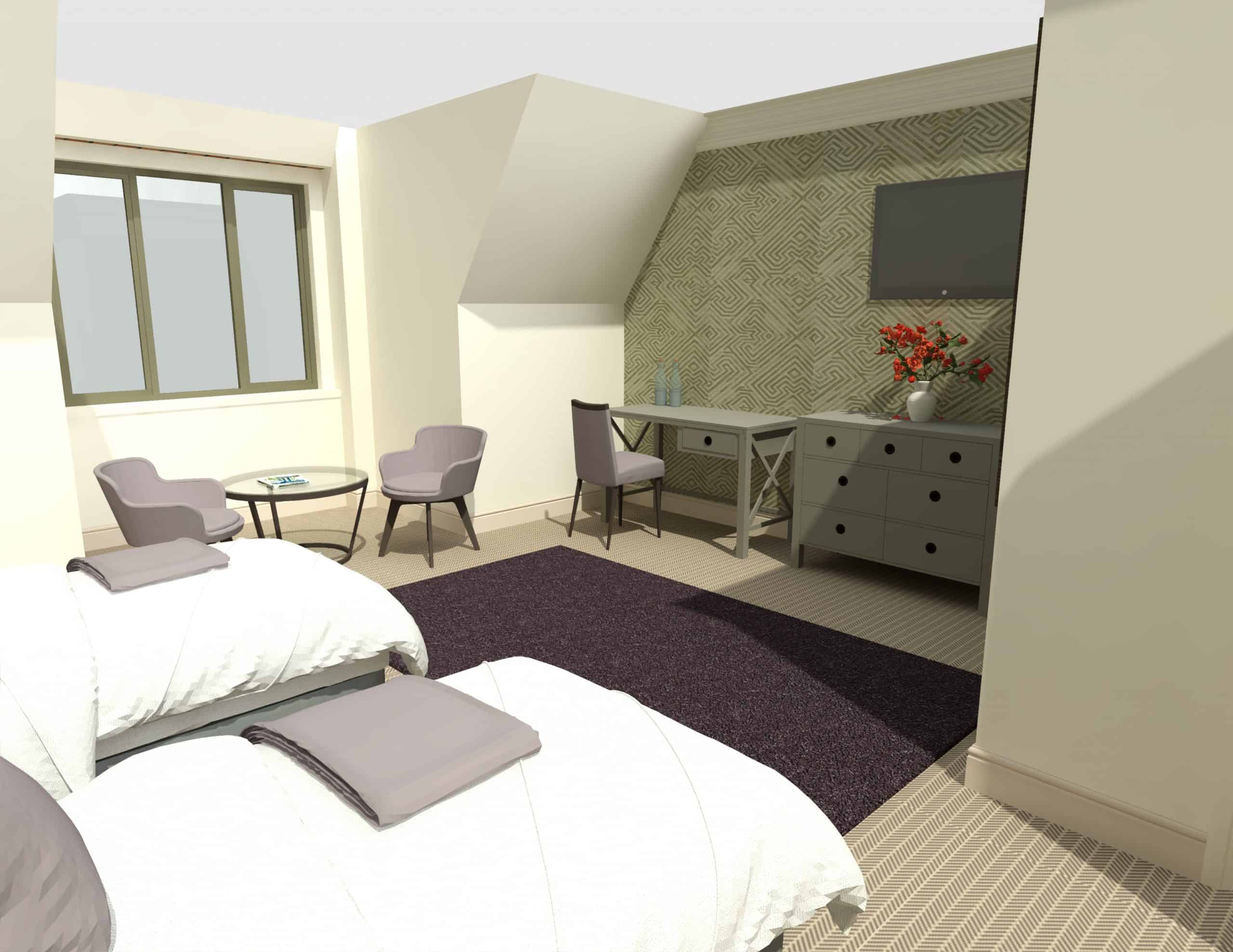 E1282 3Dmodel03 - 1st Flr Interior - Heacham Manor-Temp0024