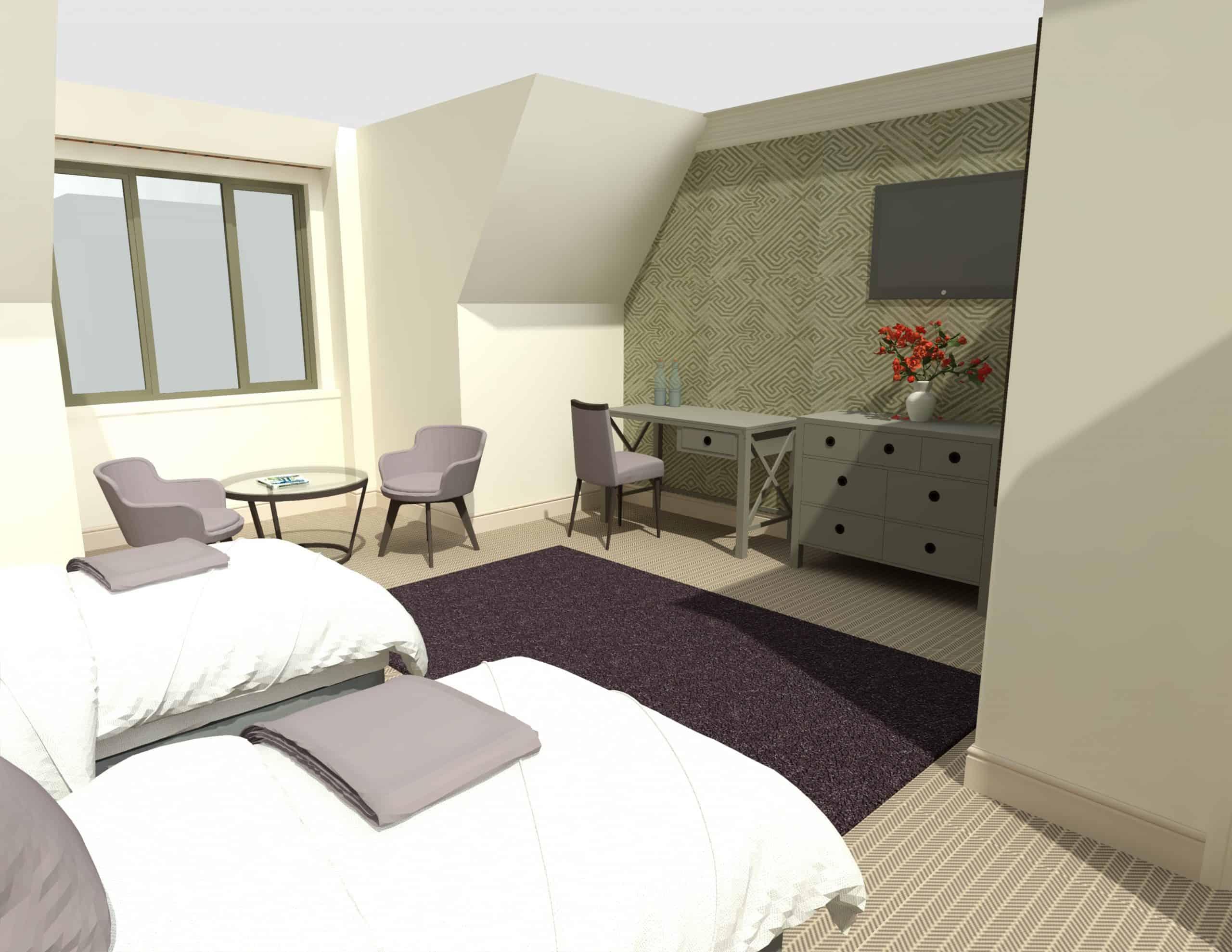 E1282 3Dmodel03 - 1st Flr Interior - Heacham Manor-Temp0024
