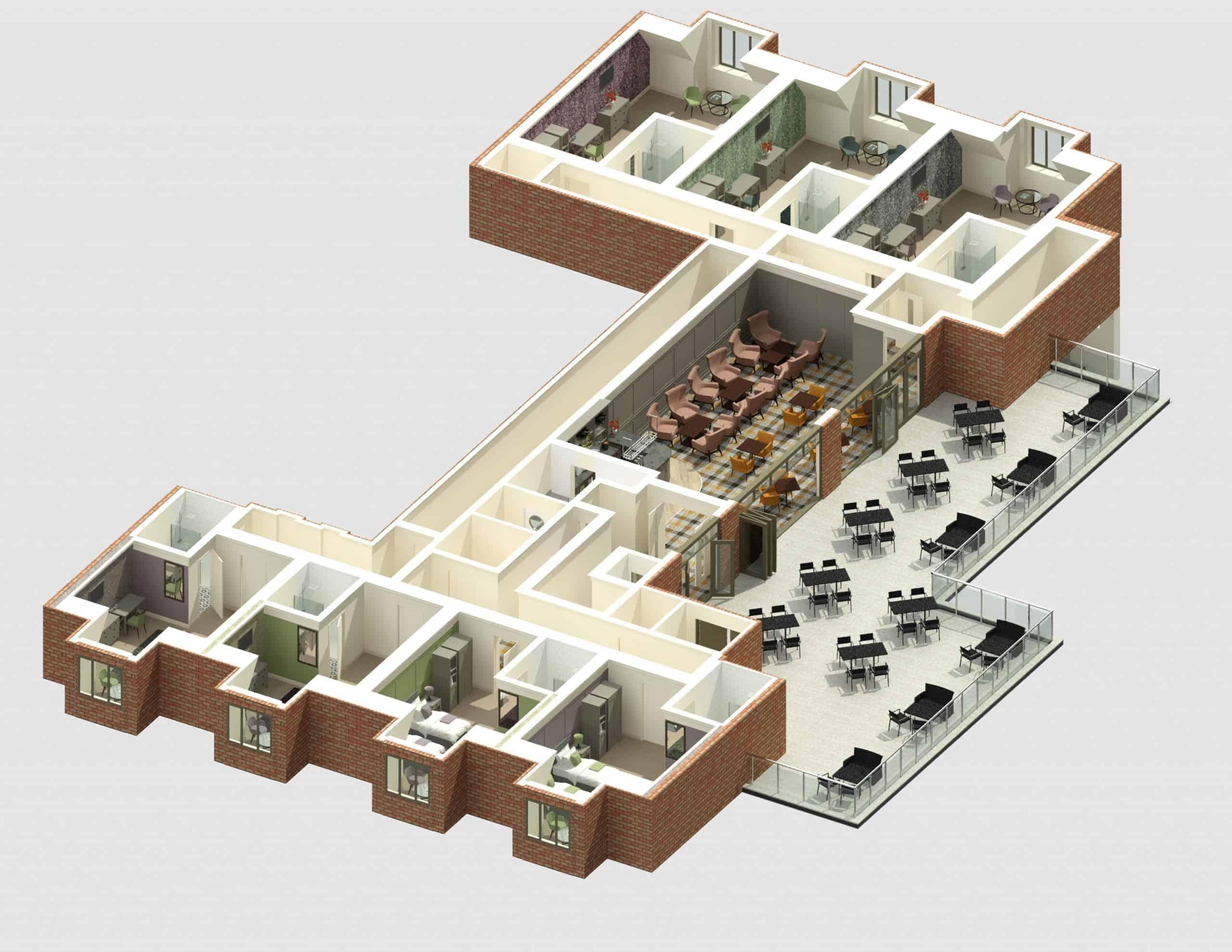 E1282 3Dmodel03 - 1st Flr Interior - Heacham Manor-Temp0032