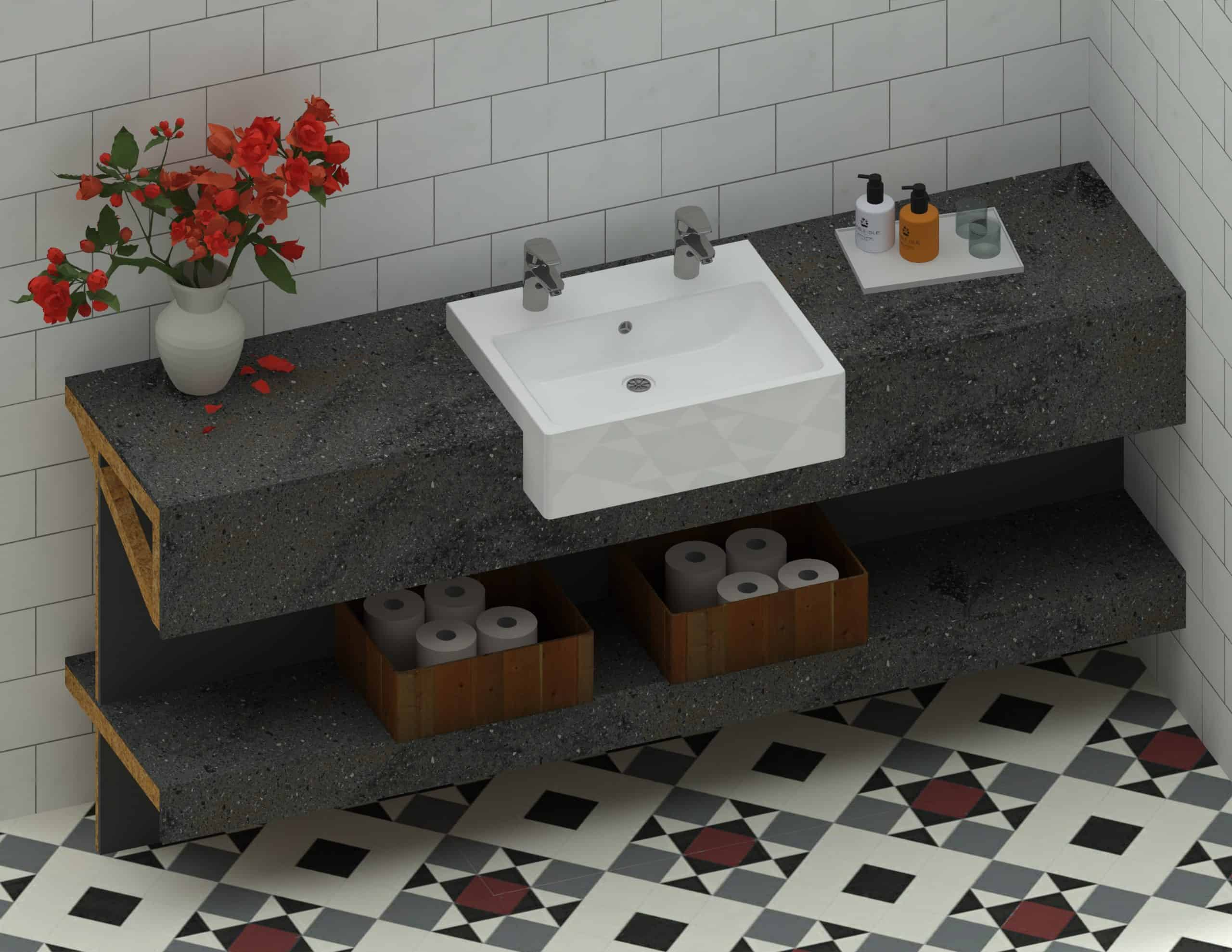 En Suite Sink - 1800mm