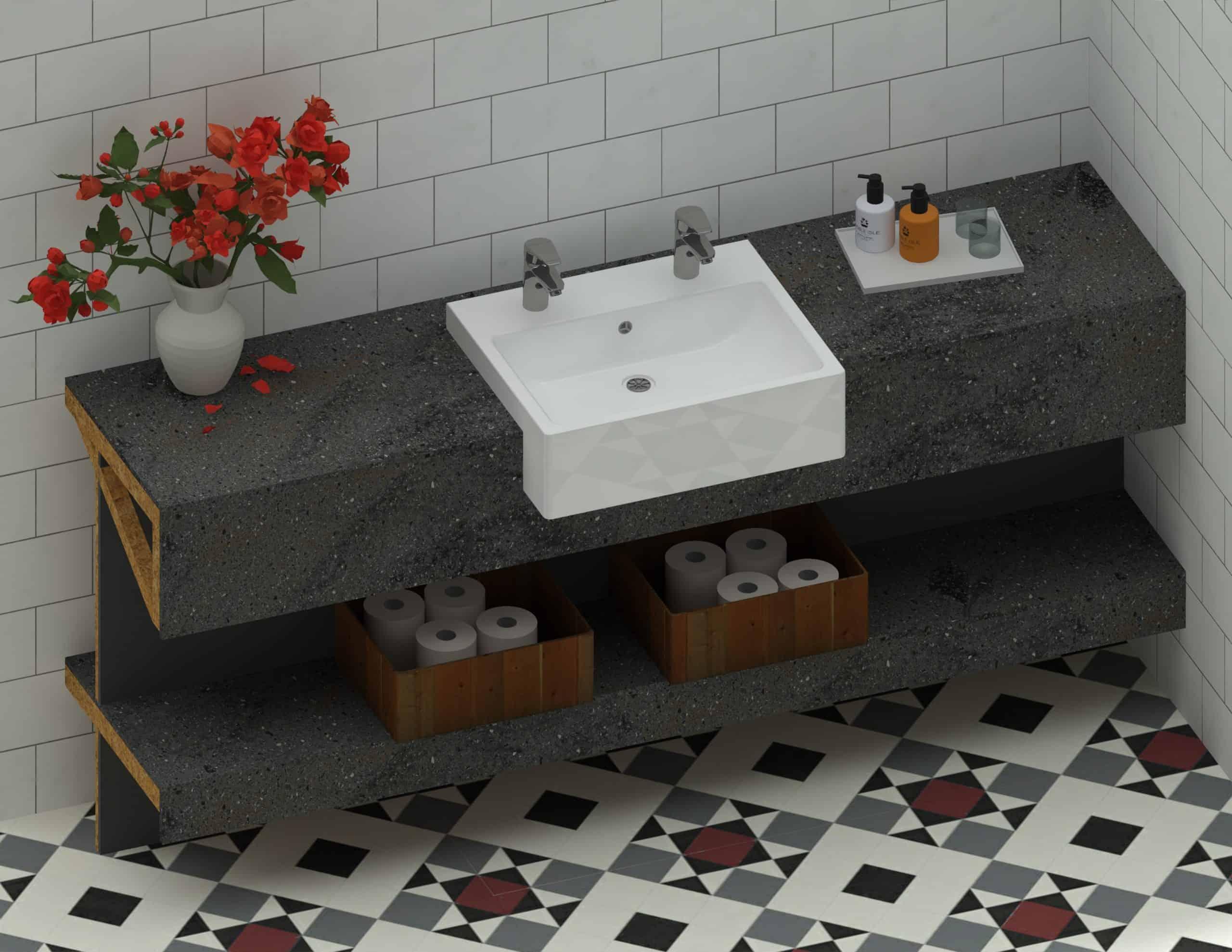 En Suite Sink - 1800mm