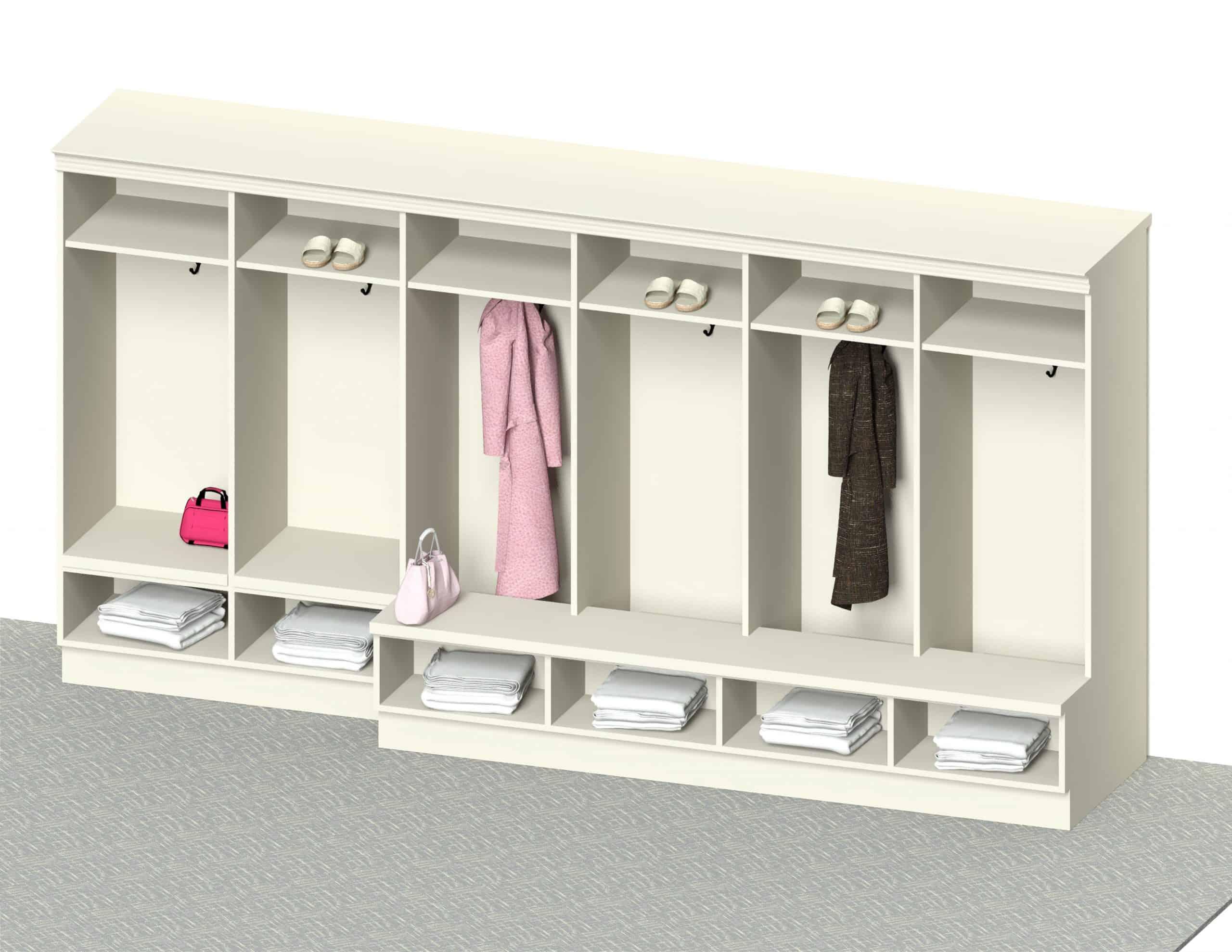 Female Open Lockers 2