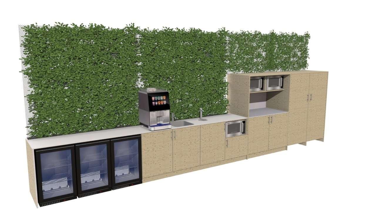 Staff kitchen render 1
